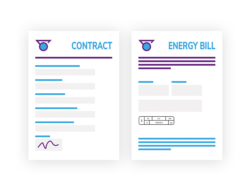 Example of contract and energy bill